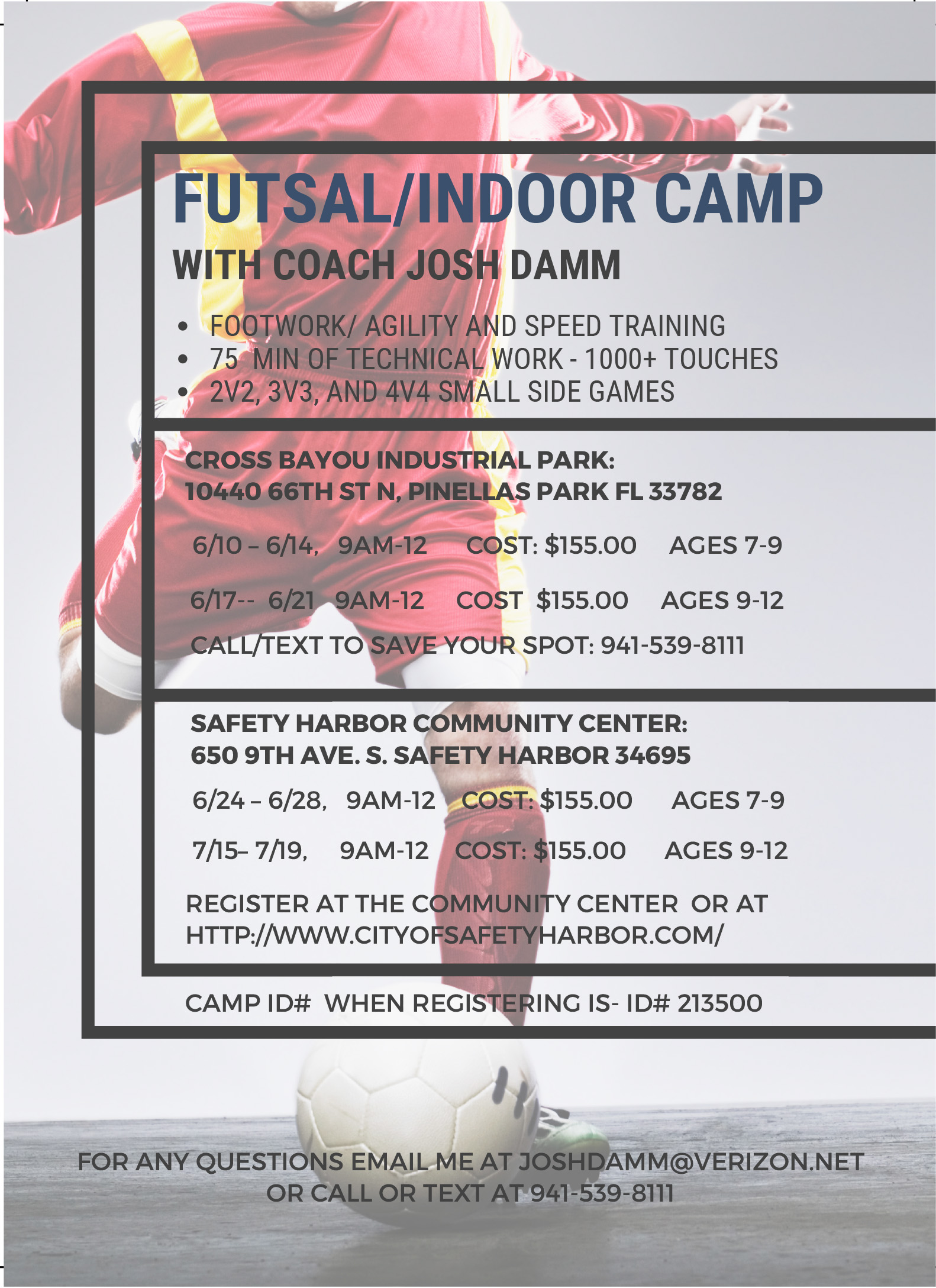 Futsal/Indoor Camp June & July Weeks ** | Chargers Soccer Club